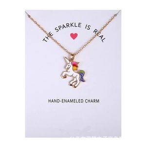 The Sparkle is Real Gold Unicorn Necklace B21